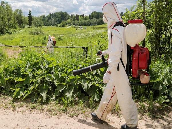 Гербицидная обработка поля в Улан-Удэ